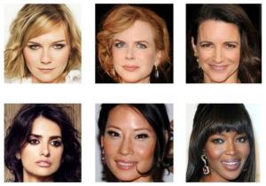 Различные типы кожи лица